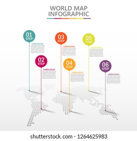 Business World map. timeline infographic icons designed for abstract background template milestone element modern diagram process technology digital marketing data presentation chart Vector