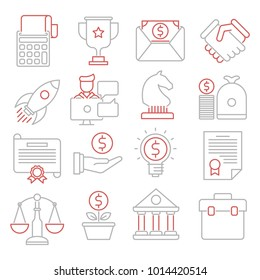 Businesses vector icons