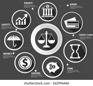 Business,Law and finance concept,Abstract,Black version,vector