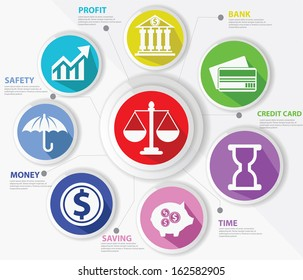 Business,Law and finance concept,Abstract,Colorful version,vector