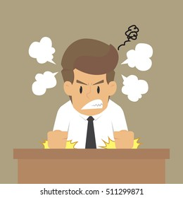 businessman Anger problem.vector