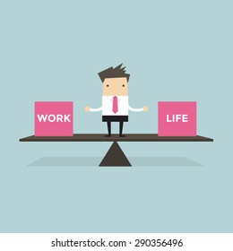 Businessman balance Work and life