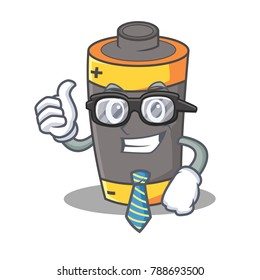Businessman battery character cartoon style