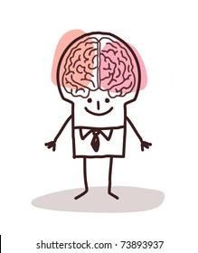 businessman with big brain
