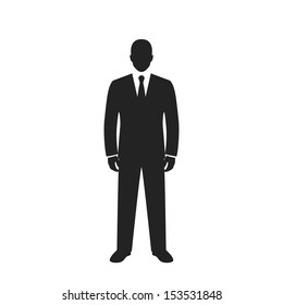businessman black web icon. vector illustration