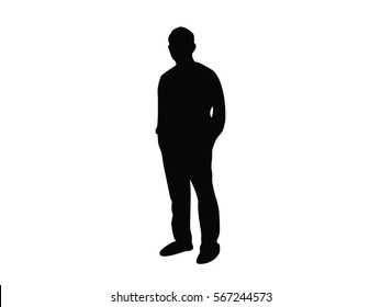 businessman black web icon. vector illustration