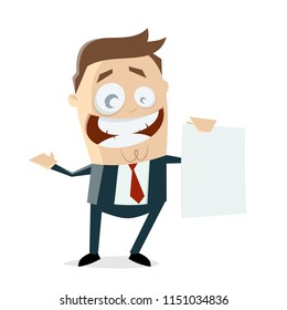businessman with blank sheet
