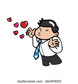 Man Blowing Kisses Stock Illustrations Images Vectors Shutterstock