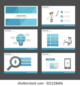 Businessman and Blue theme Multipurpose Infographic elements and icon presentation template flat design set for advertising marketing brochure flyer leaflet