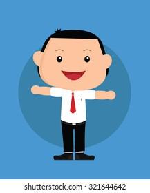 businessman boy or kids vector illustration flat design