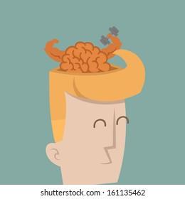 Businessman brain power , eps10 vector format