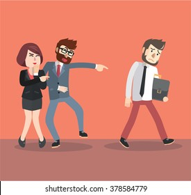Businessman bullying his friend
