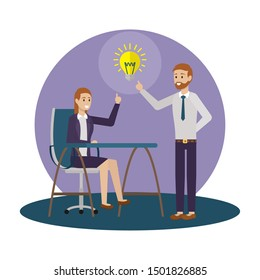 Businessman and businesswoman design, Man woman business management corporate job occupation and worker theme Vector illustration