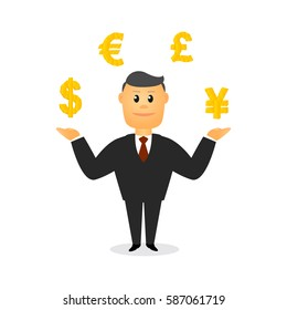 Businessman cartoon vector illustrator