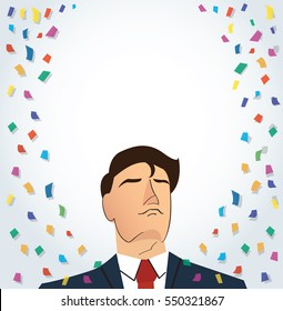 businessman celebrating a successful achievement background.