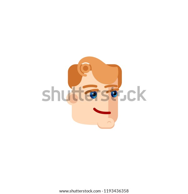 Businessman Character Blue Eyes Smiling Male Stock Vector Royalty