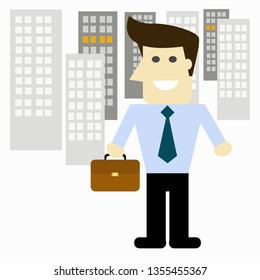 Businessman character design. vector illustration