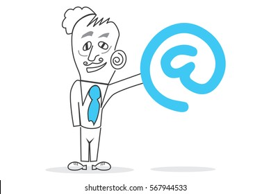 Businessman Character - Internet Symbol. A character designed to explain business topics such as finance.
