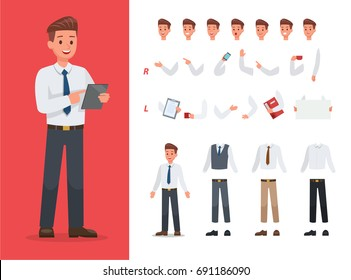 Businessman character vector design