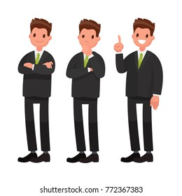 Businessman character. Vector illustration in a flat style