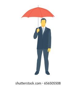 Businessman Colored Vector Icon