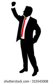 Businessman Concept Winner Success Vector Illustration
