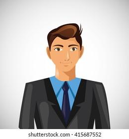 Businessman design. Corporate concept. Businessman icon