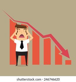 Businessman fail .vector