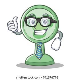 Businessman fan character cartoon style