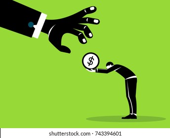 Businessman fighting over dollar currency money sign,business concept.