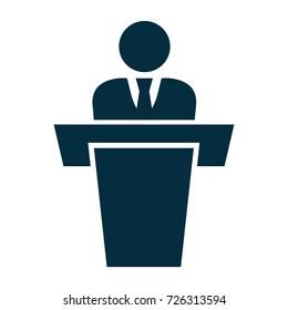 businessman giving a speech icon