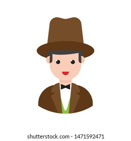businessman glyph flat vector icon