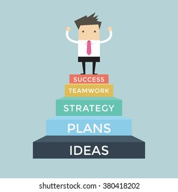 business success cartoons images stock photos vectors shutterstock https www shutterstock com image vector businessman going success 5 step 380418202