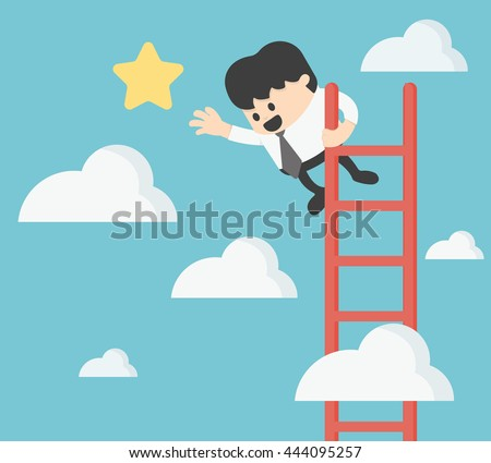 Businessman Grab Stars Business Concept Stock Vector (Royalty Free