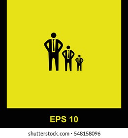 Businessman growth vector black icon. Isolated illustration. Business picture.