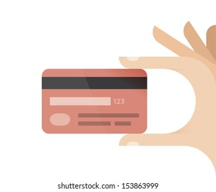 Businessman hand holding credit card. Idea - Mobile payment, Online shopping and banking etc.