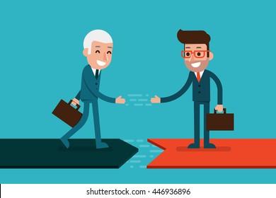 Businessman hand shaking.