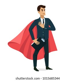 Businessman happy character design Vector illustration isolated.