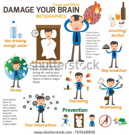 businessman-has-damage-brain-infographic