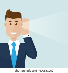 The businessman hear a good news