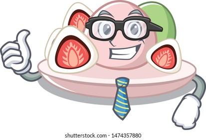 Businessman ichigo daifuku with the cartoon shape