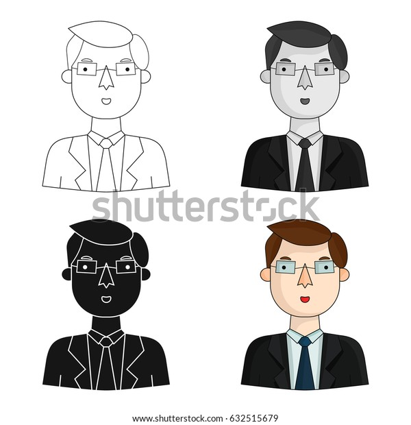 Businessman icon in cartoon style isolated on white background. People of different profession symbol stock vector illustration.
