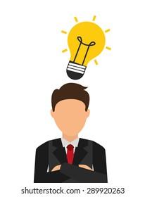 businessman icon design, vector illustration eps10 graphic