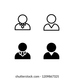 Businessman Icon Logo Vector Symbol. Boss Icon