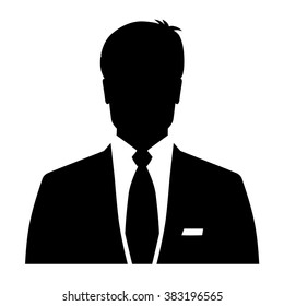Businessman icon, men's avatar