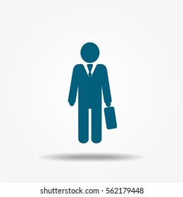 Businessman Icon. Vector business illustration.