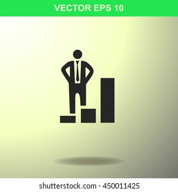 Businessman increase icon. Illustration for business.