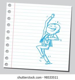 Businessman laughing