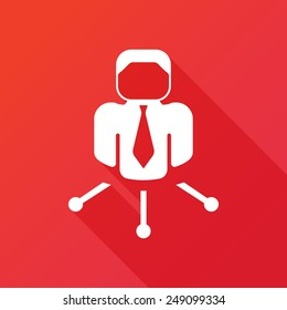 Businessman links icon