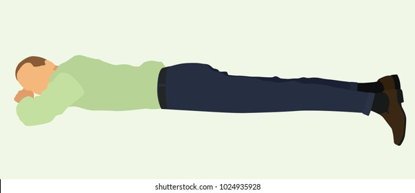 Businessman Lying on Stomach